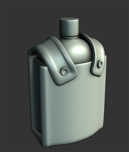 3d model old canteen