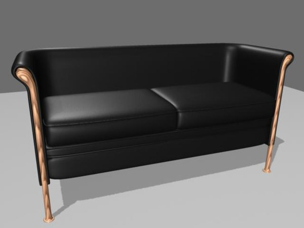 3d model moroso club couch