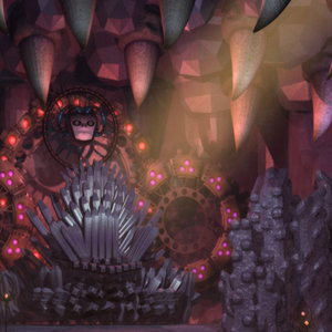 3d evil throne