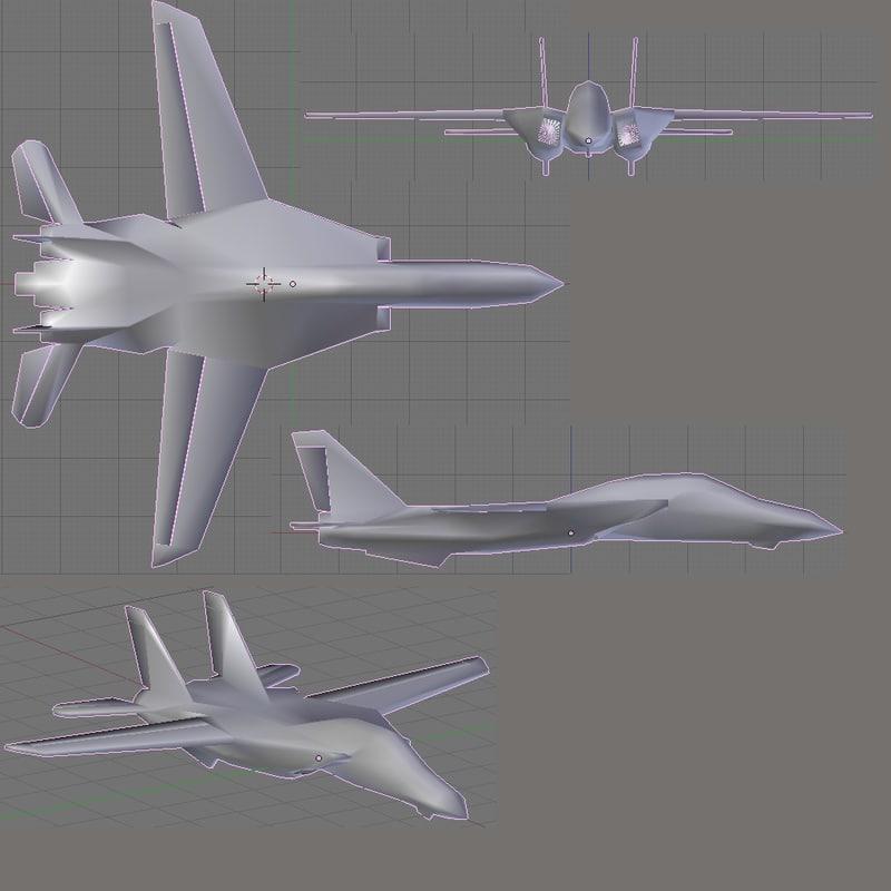 3d f-14 tomcat model
