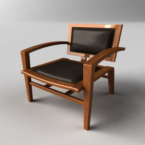 3ds max chair lounge