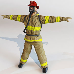 c4d fireman modelled