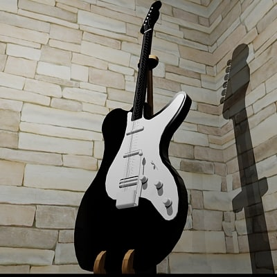 electric guitar custom stand 3d model