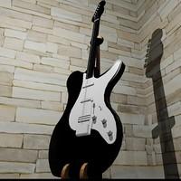 electric guitar custom stand 3d model