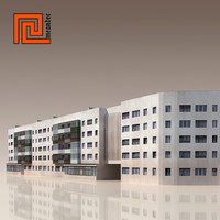 c4d building modelled