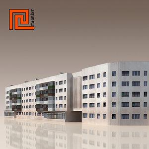 c4d building modelled