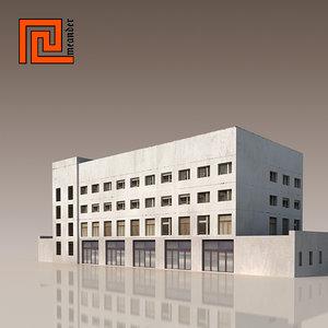 3d model building modelled