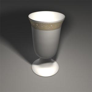 traditional jewish goblet 3d obj