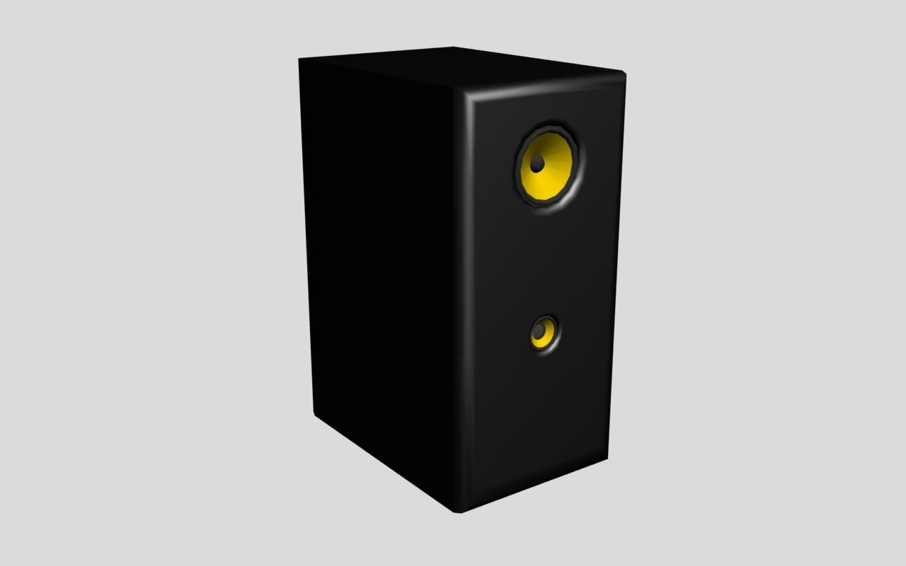 3d low-poly speaker