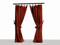 red curtains max
