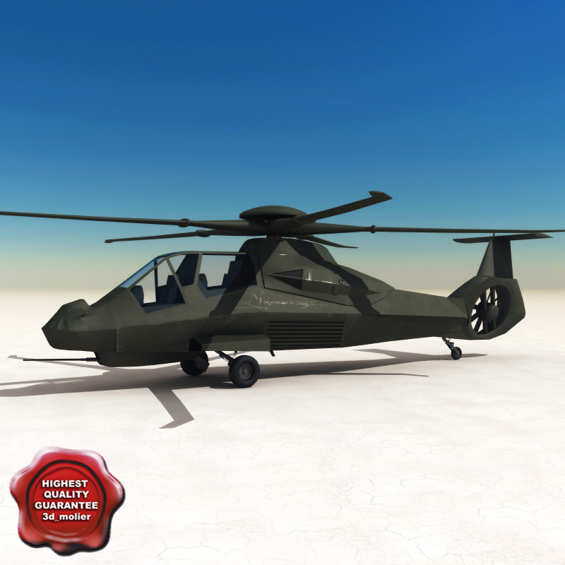 3d rah-66 army helicopter model