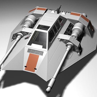 snowspeeder speeder 3d 3ds