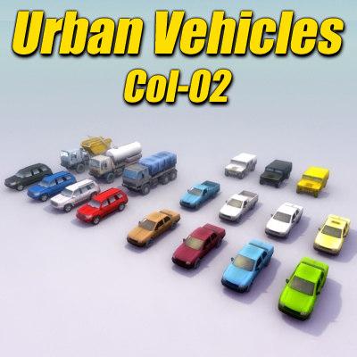urban vehicle car truck 3d model