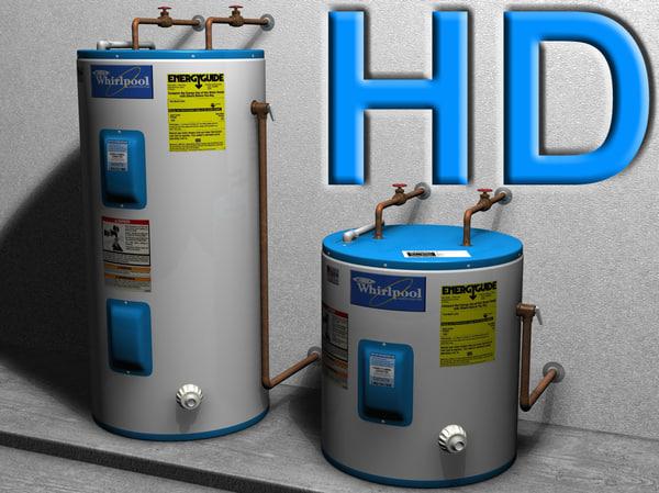 3dsmax water heater