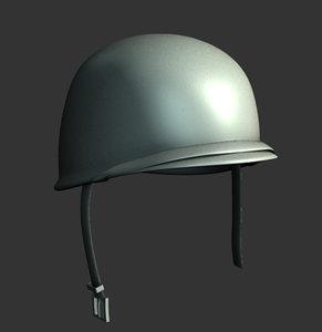 ww2 helmet 3d model