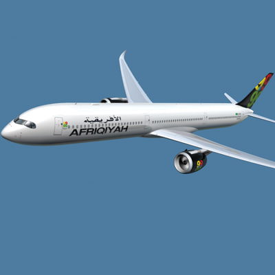 3d a350-1000 afriqiyah model