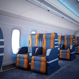 seats interior 3d model