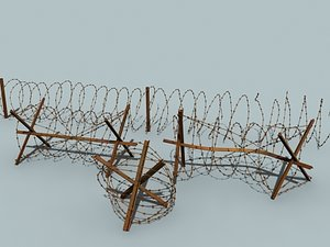 barbed wire barriers 3ds