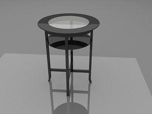 3d bistro table coffee furniture model
