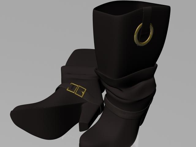 fashion boots 3d ma
