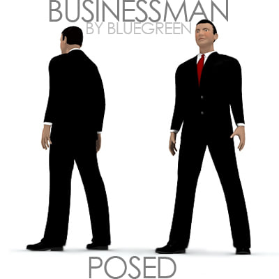 businessman posed max