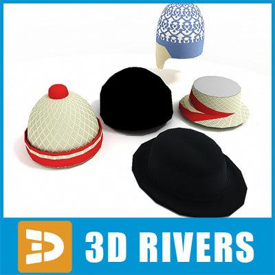 hats set 3d max