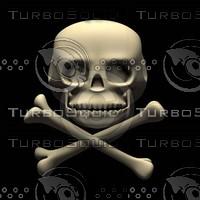 3d cartoon skull model