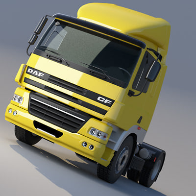 daf cf85 tractor head 3d max