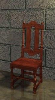 3d 17th century chair