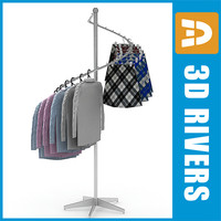 Clothes display rack 02 full by 3DRivers