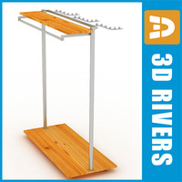 Clothes display rack 01 by 3DRivers