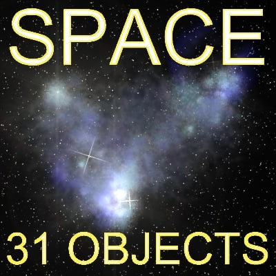 31 objects space planet 3d model