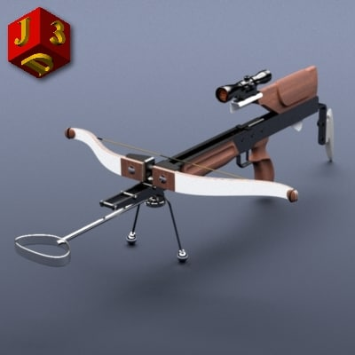 sports crossbow shooting targets 3d model