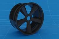 19 inch wheel rim 3d max