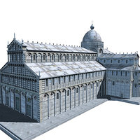 Cathedral of Pisa c4d