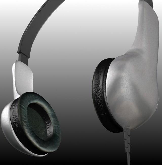 3ds headphones grey metallicized