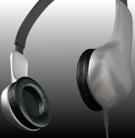 3ds headphones grey metallicized