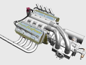 chrysler hemi potvin engine v8 3d 3ds