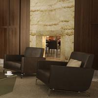 chair loungechair 3d model