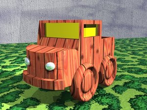 free 3ds model toy truck
