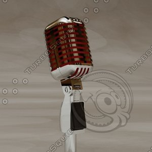 3d model of microphone