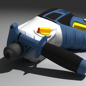 electric drill 3d model