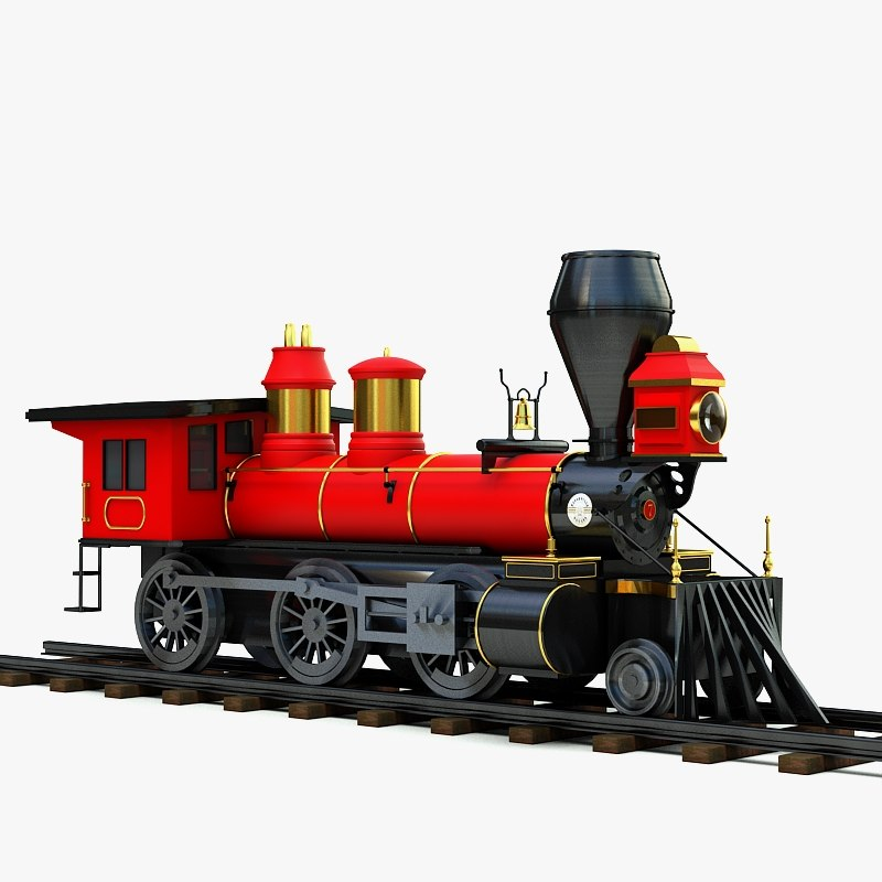 classic pioneer mogul steam locomotive 3d max