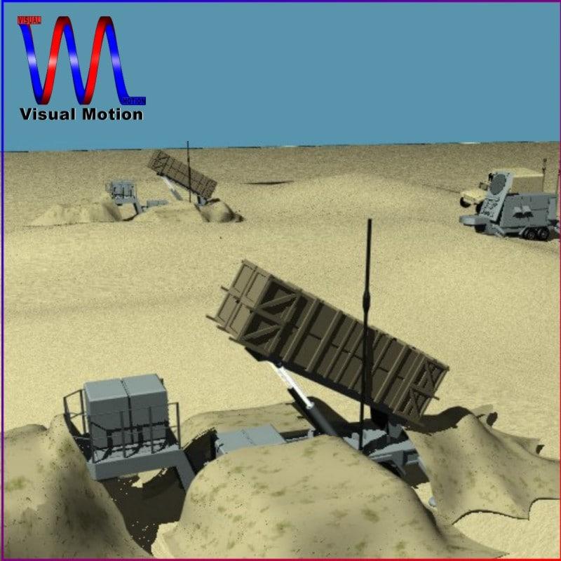 3d patriot missile defense model