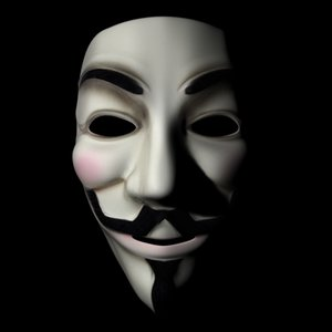 guy fawkes mask 3d max
