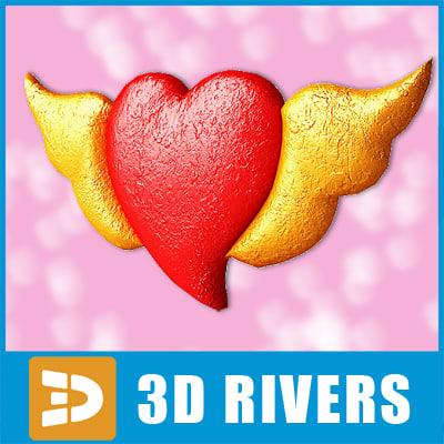 3d model valentine heart