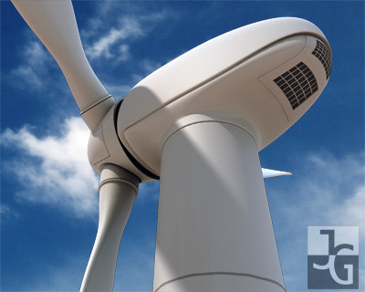 photorealistic wind turbine 3d model