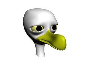 cartoon seagull 3d model