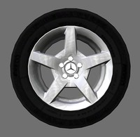 5-spoke Mercedes-Benz AMG style rims
