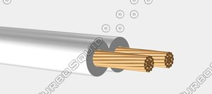speaker wire white 3d model